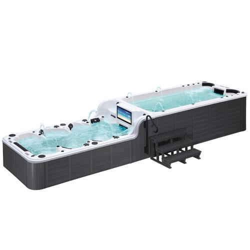 Velký plavecký vířivý bazén MDB859, 8m Plavecký a vířivý bazén