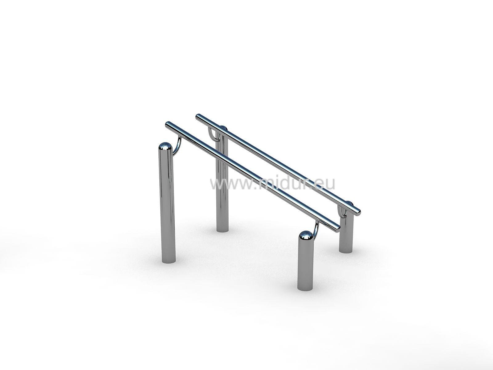 Tricepsové kliky na bradlech Steel 12 Venkovní posílovací bradla