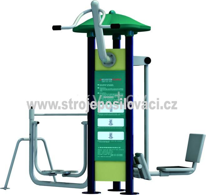 Posilovací stroj pro venkovní fitness MDS_04AK Trojkombinace