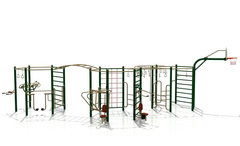 Venkovní multifunkční tréninková sestava 3006H Venkovní tréninkový set 3006H