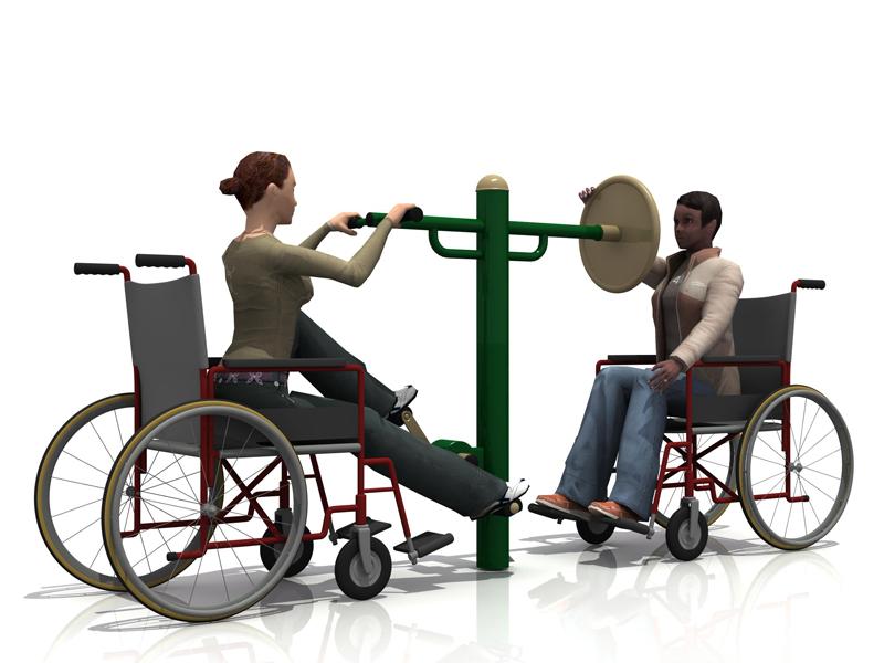 Posilovací stroj pro handicapované 14 Venkovní posilovací stroj pro zdravotně postižené 14