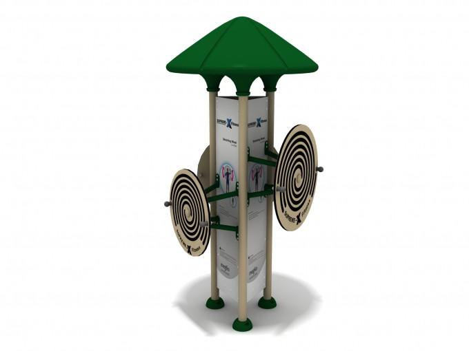 Univerzální stroj pro 3 osoby FIT_003 Stretching Wheel
